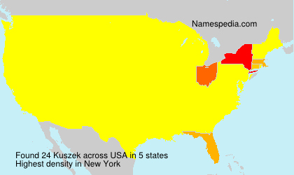 Surname Kuszek in USA