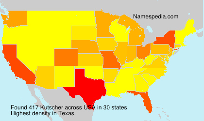 Surname Kutscher in USA