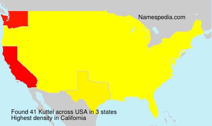 Familiennamen Kuttel - USA