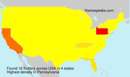 Surname Kutters in USA