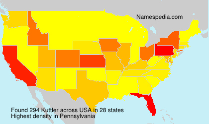 Surname Kuttler in USA