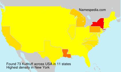 Familiennamen Kuttruff - USA