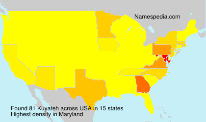 Surname Kuyateh in USA