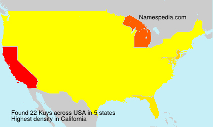 Surname Kuys in USA