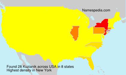Familiennamen Kuzianik - USA