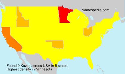 Familiennamen Kuziej - USA
