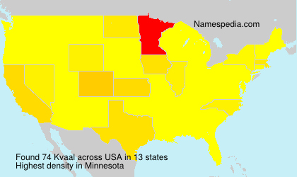 Surname Kvaal in USA