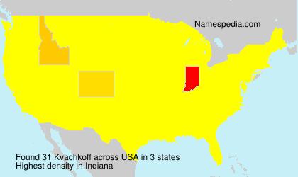 Familiennamen Kvachkoff - USA