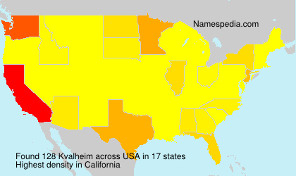 Surname Kvalheim in USA