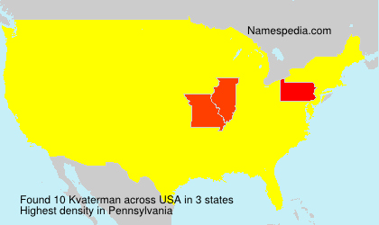 Surname Kvaterman in USA