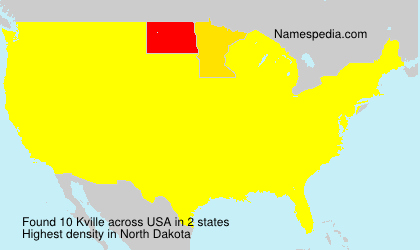 Surname Kville in USA