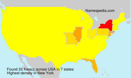 Surname Kwacz in USA
