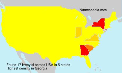 Familiennamen Kwayisi - USA