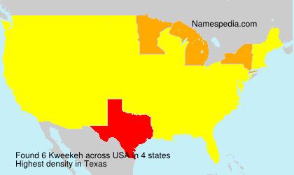 Surname Kweekeh in USA
