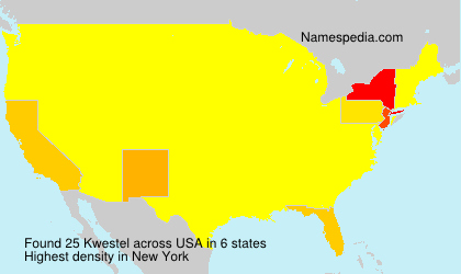 Surname Kwestel in USA