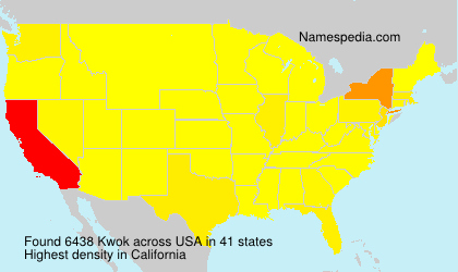 Surname Kwok in USA