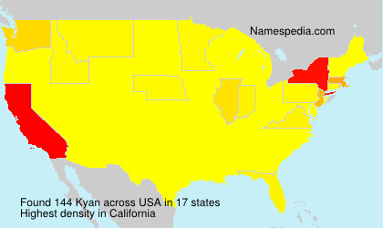 Surname Kyan in USA