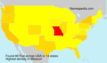 Surname Kyd in USA