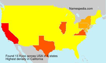 Surname Kyoo in USA