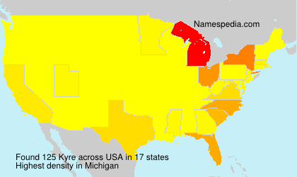 Surname Kyre in USA