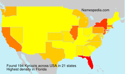 Surname Kyriazis in USA