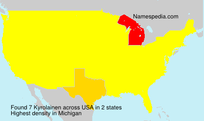 Surname Kyrolainen in USA
