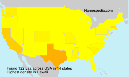Surname Laa in USA