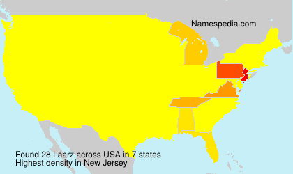 Surname Laarz in USA