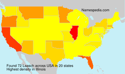 Surname Laasch in USA