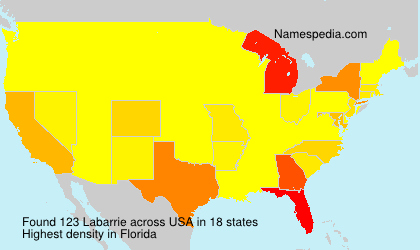 Surname Labarrie in USA