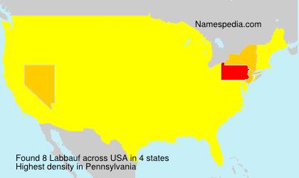 Surname Labbauf in USA