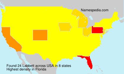 Familiennamen Labbett - USA