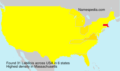 Surname Labillois in USA