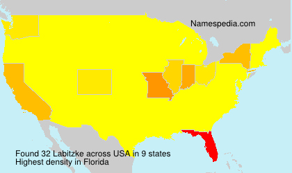 Surname Labitzke in USA