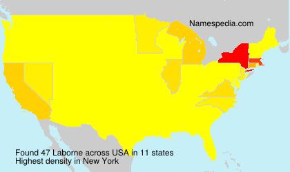 Familiennamen Laborne - USA