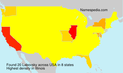 Surname Labovsky in USA