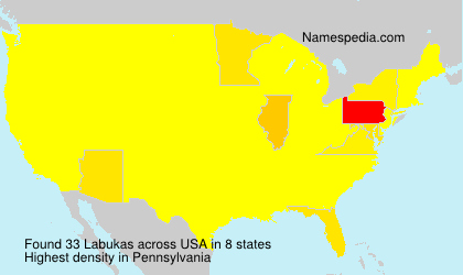 Surname Labukas in USA