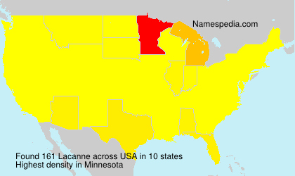 Surname Lacanne in USA