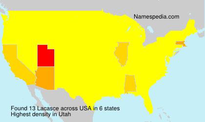Familiennamen Lacasce - USA