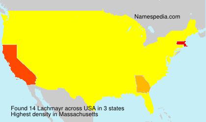 Familiennamen Lachmayr - USA