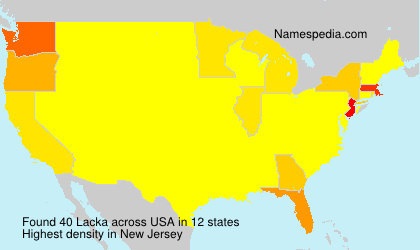 Surname Lacka in USA