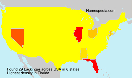 Surname Lackinger in USA
