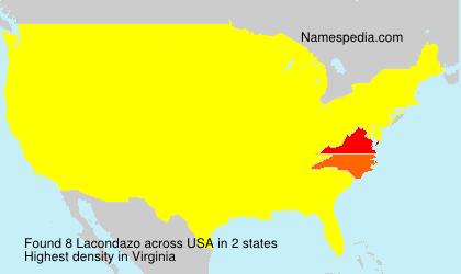 Surname Lacondazo in USA