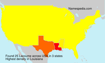 Surname Lacoume in USA
