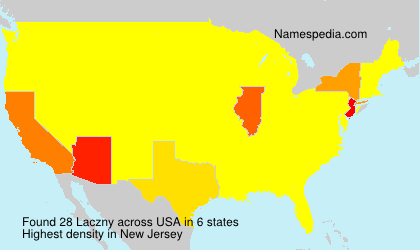 Surname Laczny in USA