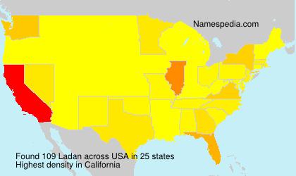 Familiennamen Ladan - USA
