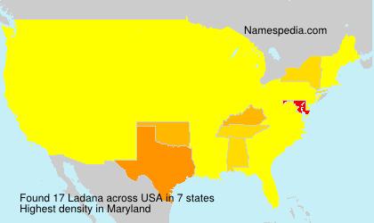 Surname Ladana in USA