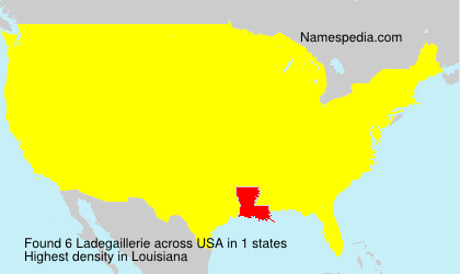 Surname Ladegaillerie in USA