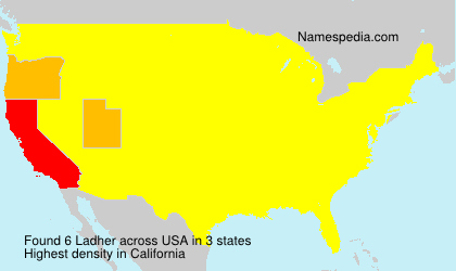 Surname Ladher in USA