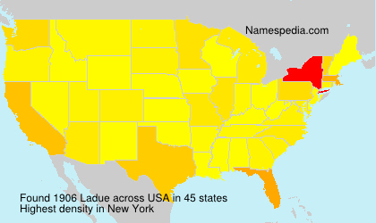 Surname Ladue in USA